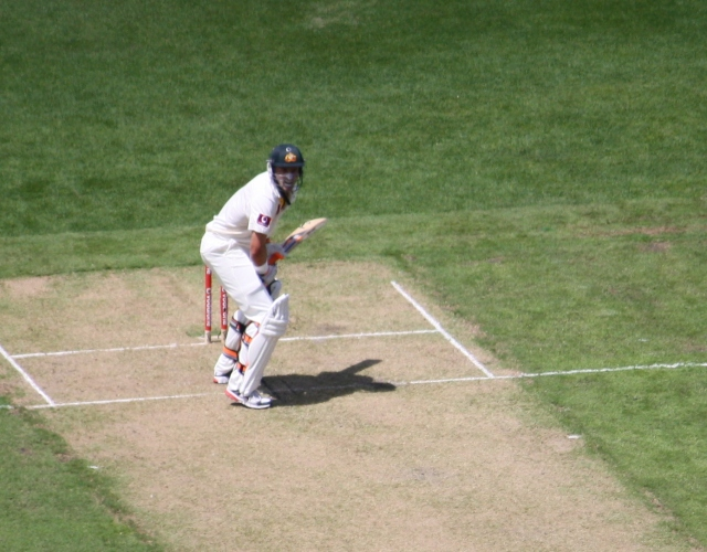 Mike Hussey, Boxing Day, 2010 (photo mine)