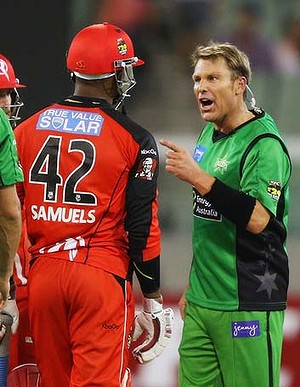 Shane Warne lashes out at Marlon Samuels. Credit: Getty Images