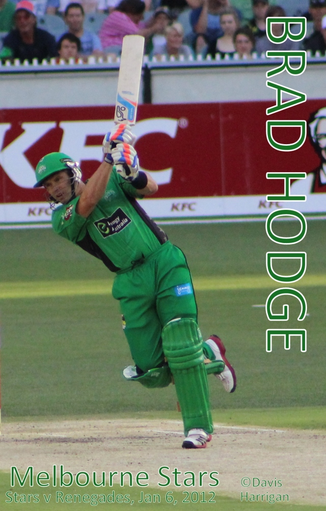 Brad Hodge v Melbourne Renegades, Jan 6, 2013 (photo mine)