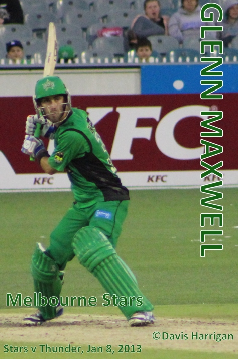 Glenn Maxwell v Sydney Thunder, Jan 8, 2013 (photo  mine)