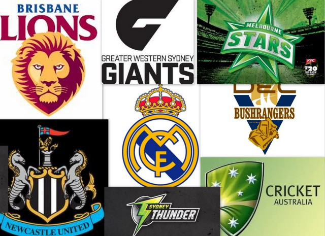 The teams I support.