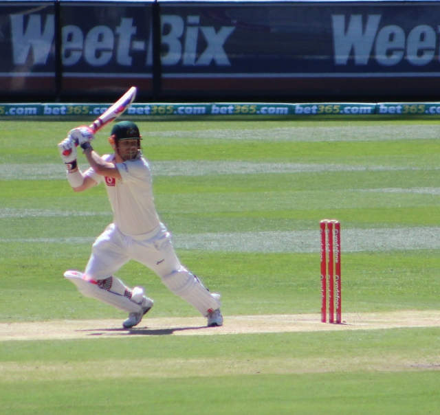David Warner, 2012, currently out of favour with the Aussie side (photo mine)