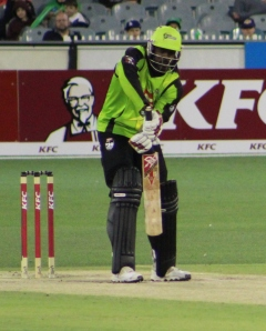 Chris Gayle playing for the Sydney Thunder, Jan 2013 (photo mine)
