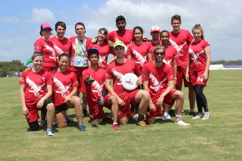 La Trobe AUG frisbee team (photo mine)