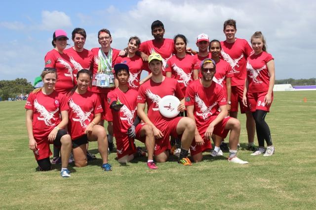 La Trobe AUG frisbee team (photo mine)