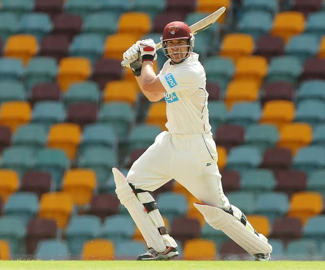 Luke Pomersbach in action during the 2012/2013 season (source: ESPN Cricinfo/Getty Images)