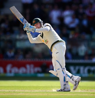 Michael Clarke, not out after Day 1 (source: ESPN Cricinfo/Getty Images)