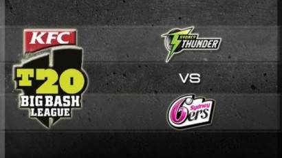 Sydney Thunder v Sydney Sixers banner (Australia Free TV)