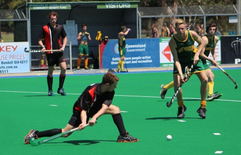 RMIT & UWA, mens hockey, AUG 2013 (photo: Davis Harrigan)