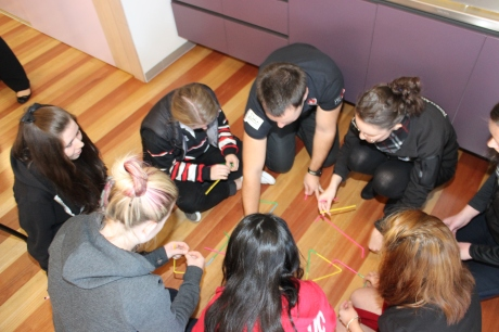 University students at the Be The Influence workshop get creative (photo: Davis Harrigan)