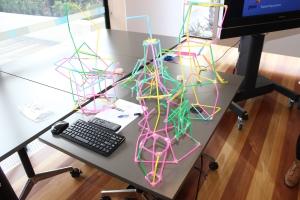 Some of the creative straw contraptions (photo: Davis Harrigan)
