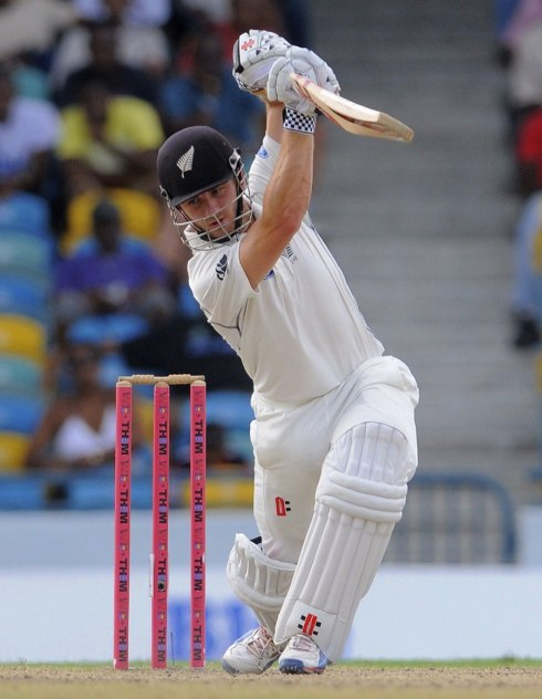 Kane Williamson of NZL v West Indies; shots like this may disappear with the pink ball (photo: WICB Media/Randy Brooks)