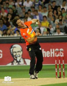 Brad Hogg at the MCG (photo: Davis Harrigan)