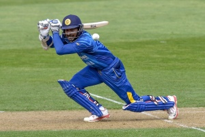 Kumar Sangakkara plays away through point (photo: Getty Images)