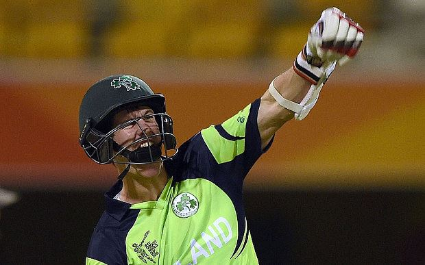 George Dockrell celebrates in triumph at the World Cup (photo: AFP)
