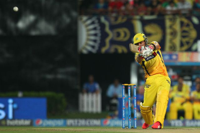 Brendon McCullum punishes one for six (photo:  BCCI)