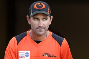 Justin Langer coaching the Perth Scorchers