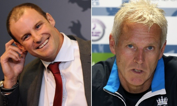 Andrew Strauss & Peter Moores: into the fire (photo: PA)