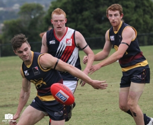 It was a 3 point win to the Lions on ANZAC Day (photo: Davis Harrigan)
