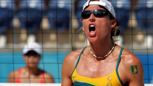 Kerri Pottharst on the beach volleyball sand (photo: Getty)