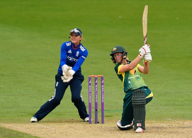 Meg Lanning during the 3rd ODI (Getty Images)