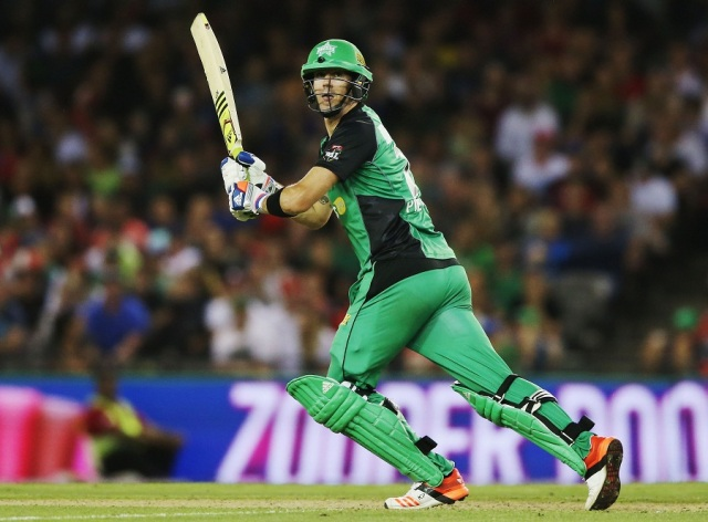 Kevin Pietersen flicks another one away at Etihad Stadium (Photo: CA/Getty)